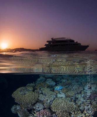 sunset, boat, Red Sea, fishinfocus, Mario Vitalini, OMD