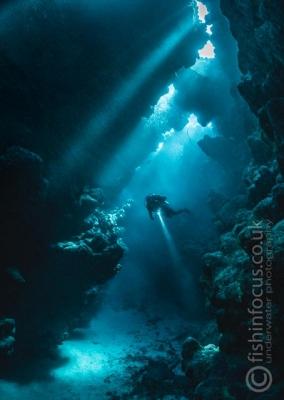 diver caves Red Sea, fishinfocus, Mario Vitalini, trips, workshops